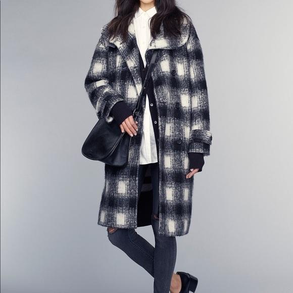af00d2a02f Banana Republic Jackets & Coats | Br Black Plaid Wool Doublebreasted ...